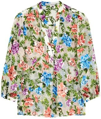 Alice + Olivia Shiela floral devore blouse