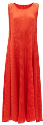 Pleats Please Issey Miyake Technical-pleated Dress - Red