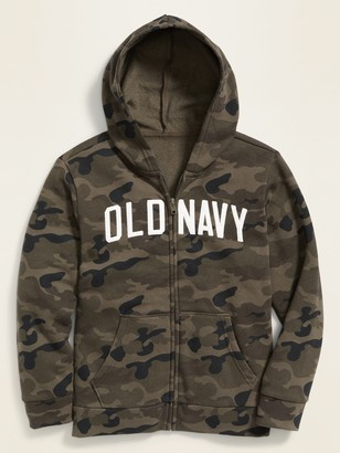Old Navy Logo-Graphic Zip Hoodie for Boys