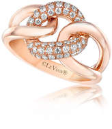 LEVIAN CORP LIMITED QUANTITES! Levian Corp Le Vian Womens 1/2 CT. T.W. White Diamond 14K Gold Cocktail Ring