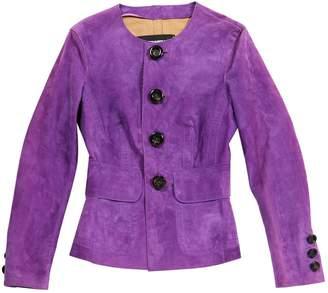 DSQUARED2 Purple Suede Jackets