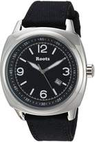 Roots Men's 'Core' Quartz Stainless Steel and Canvas Casual Watch, Color: (Model: 1R-PR100BA6B)