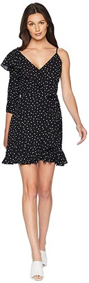 BB Dakota Hotline Bling Polkadot One Sleeve Dress