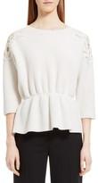 Chloé Women's Lace Trim Merino Wool & Cashmere Sweater