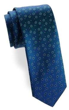 Charvet Split Peas Silk Narrow Tie