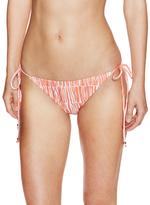 Shoshanna Orange White Tribal String Bikini Bottoms
