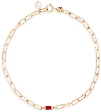 Poppy Finch Ruby Baguette Link Bracelet