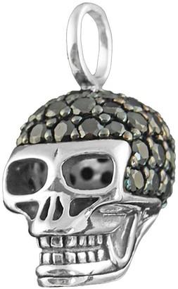 Thomas Sabo Women Men-Pendant Rebel at heart 925 Sterling silver Zirconia Pave black PE480-051-11