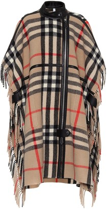 Burberry Checked wool-blend