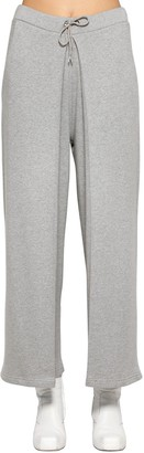 Aalto FIXED PLEATS COTTON JERSEY SWEATPANTS
