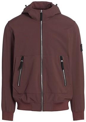 Stone Island Knit Hooded Zip-Up Jacket