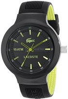 Lacoste Men's 2010656 Borneo Analog Display Japanese Quartz Black Watch