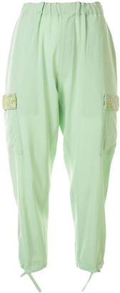 Undercover Beaded Embroidery Tapered Trousers