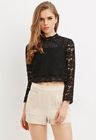 Forever 21 Textured High-Waisted Shorts