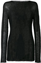 Rick Owens sheer knitted top - men - Nylon/Alpaca - S