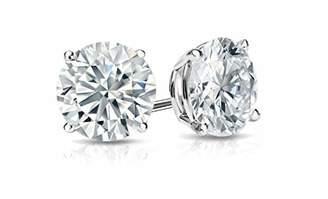 Divine Elegance Unisex Sterling Round CZ Stud Earrings