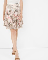 White House Black Market Petite Floral Print Tiered Skirt