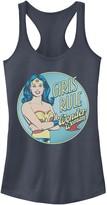 """Licensed Character Juniors' DC Comics Wonder Woman """"Girls Rule"""" Tank Top"""