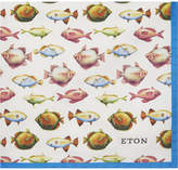 Eton Fish pattern cotton-silk pocket square