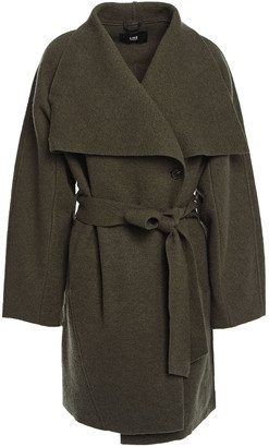 Line Belted Wool-blend Boucle Coat