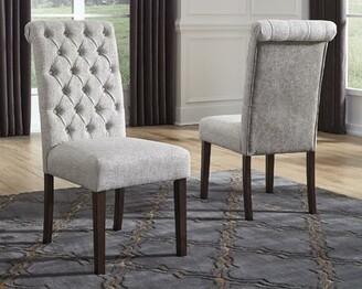 Charlton Homeâ® Perei Tufted Upholstered Parsons Chair in Gray Charlton HomeA