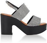 Robert Clergerie Women's Emple Leather Platform Sandals-Black, White