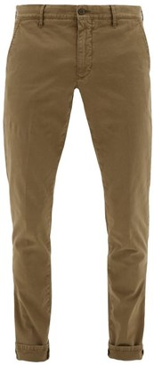 Incotex Stretch-cotton Gabardine Slim-fit Trousers - Green