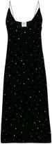 Forte Forte glitter-embellished velvet slip dress