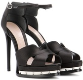 Alexander McQueen Satin Platform Sandals