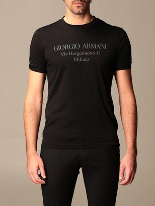 Giorgio Armani Cotton T-shirt With Logo