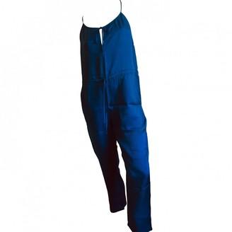 Eres Blue Silk Jumpsuits