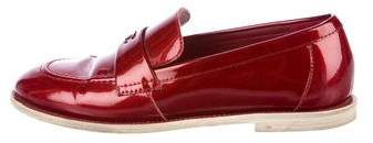 Chanel CC Patent Leather Loafers