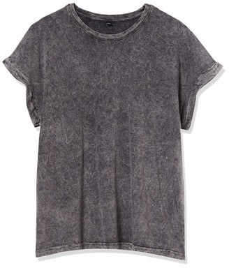 Build Your Brand Women's Ladies Acid Washed Extended Shoulder Tee T-Shirt