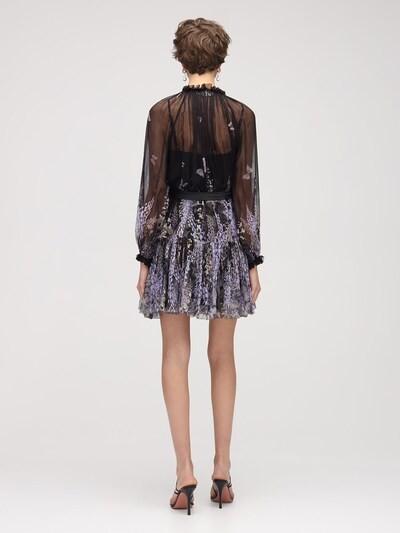 Thumbnail for your product : Zimmermann Botanica Lantern Chiffon Mini Dress