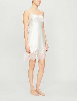 Myla Alma lace-trim satin-silk night dress