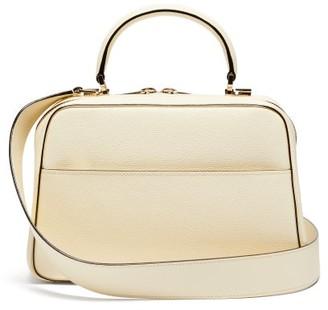 Valextra Serie S Medium Textured-leather Shoulder Bag - White