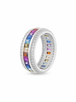 Inspired By You Rainbow Cz Eternity Band Ring