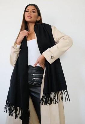 Missguided Black Blanket Scarf