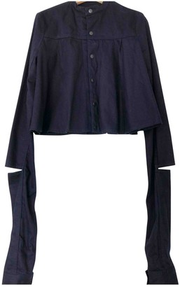 Chalayan Navy Denim - Jeans Jackets