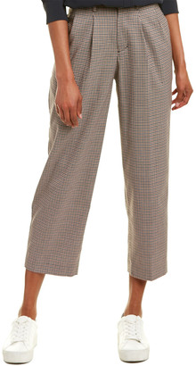 Velvet by Graham & Spencer Plaid Wool-Blend Pant