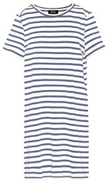 A.P.C. Striped cotton T-shirt dress