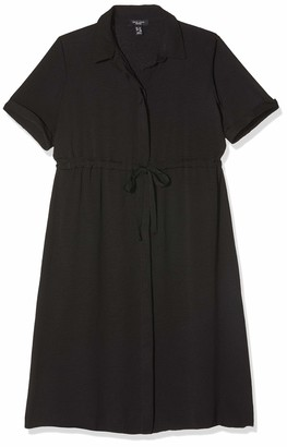 New Look Petite Women's Drawstring Waist Shirt Dress