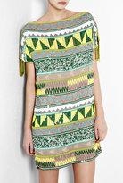 Jacara Aztec Beaded Mini Dress