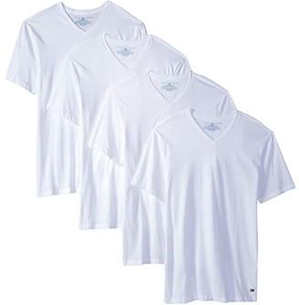Tommy Hilfiger Cotton Classics 4-Pack Value Pack V-Neck (White) Men's T Shirt