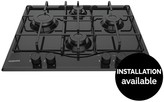 Hotpoint PCN642HBK 60cm Wide Built-in Hob With Optional Installation - Black