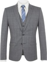 Ben Sherman Smoked Grey Textured Check Jacket