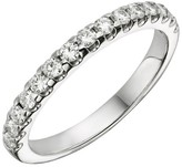 Charles & Colvard .45 CT. T.W. Round Charles and Colvard Moissanite Prong Set Band in 14K White Gold