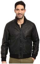 Calvin Klein Faux Leather Bomber Men's Coat
