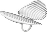 Georg Jensen Lamellae Collection sterling silver twin ring