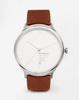 Mondaine Helvetica Leather Strap Watch